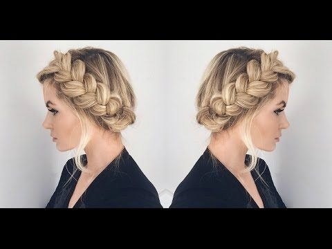 Halo Braid Tutorial - YouTube. Barefoot blonde. MUST TRY