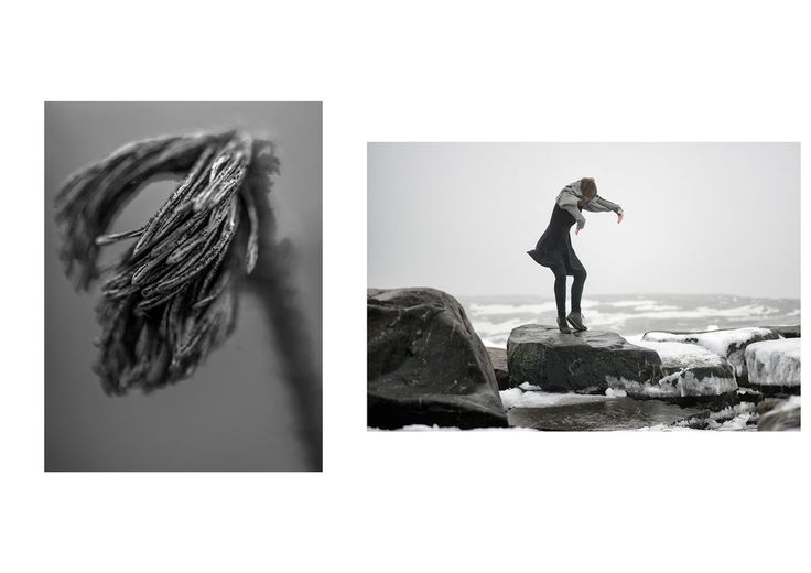 Photo 🅰: CREATURES of the ARCHIPELAGO| Nauvo Archipelago, Baltic Sea - July 2016 Photo 🅱:SEA CHANGE SERIES| Uunisaari, Helsinki, Finland 2016 - dancer: Kristiina Turtiainen