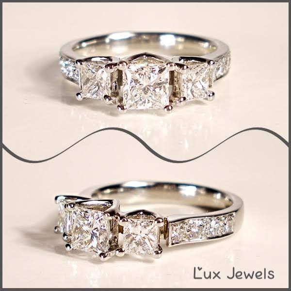 Did you know a square diamond is called a PRINCESS? The lucky lady wearing this ring sure feels like a Princess. www.luxjewels.com