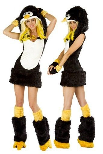Hot Sale Sexy Animal Costume(Penguin) For Woman,Adult Cosplay Costume For Halloween,Mascot Costume For Adult $29.50