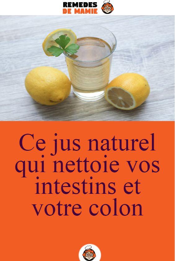 Jus naturel pour nettoyer les intestins et le côlon en