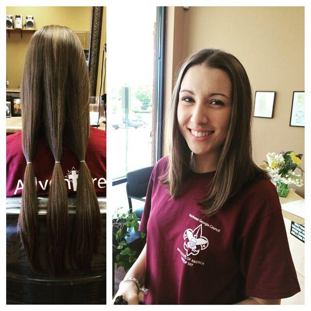 Lob haircut donate hair before and after hair new hair