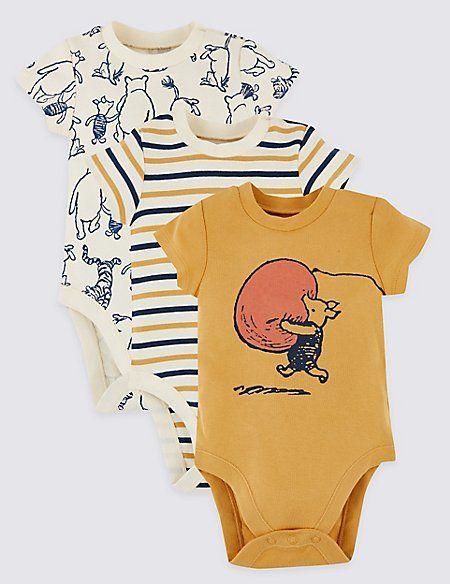 79fd5f611 3 Pack Winnie the Pooh & Friends™ Bodysuits | Baby Onesies | Winnie ...