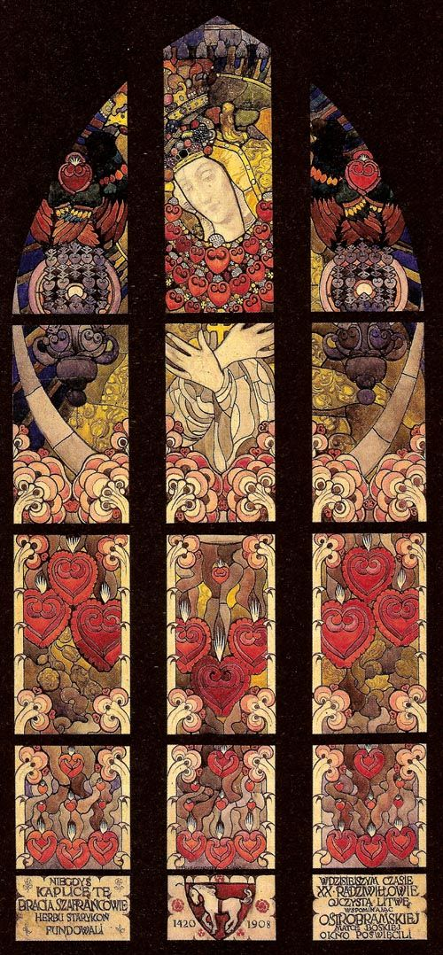 "Jozef Mehoffer ""Stained Glass Window Design"", 1908, watercolour, gouache on paper"