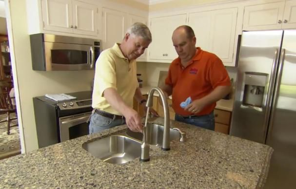 This Old House plumbing and heating expert Richard Trethewey shows how to install kitchen sink plumbing for a double-bowl sink.