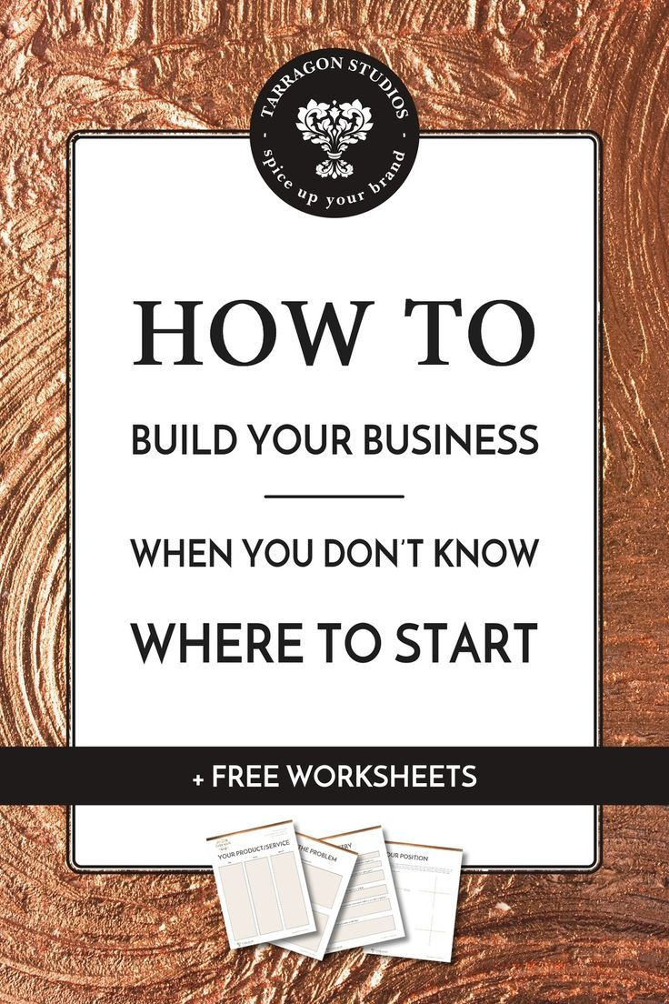 How to build your business, when you don't know where to