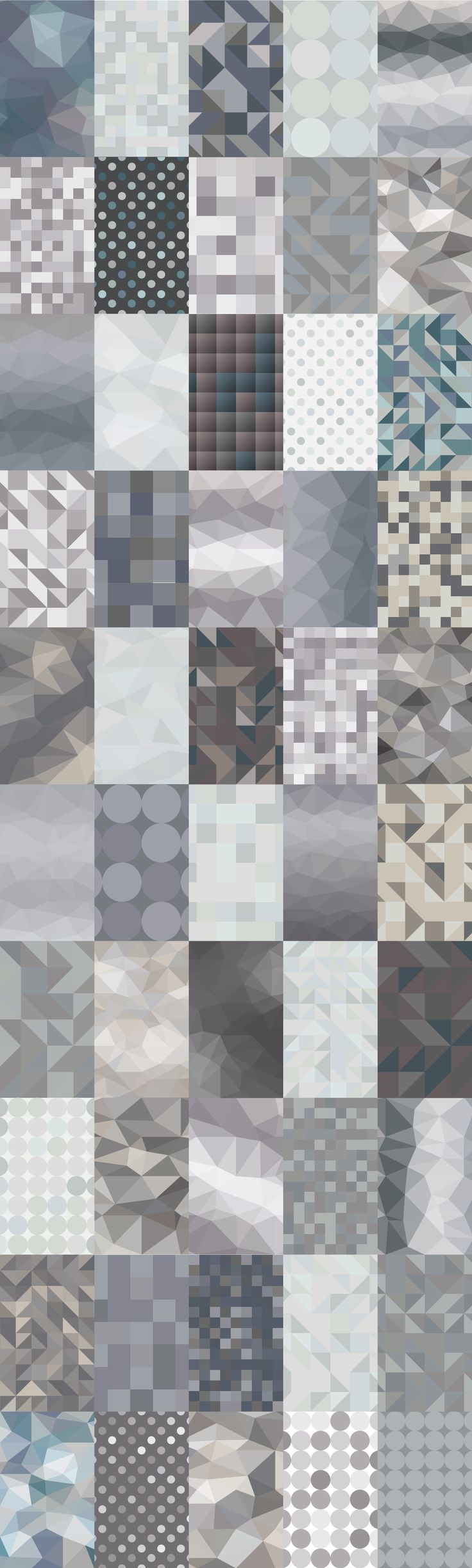 50 Geometric Patterns | Grey by Marmalade Moon on Creative Market