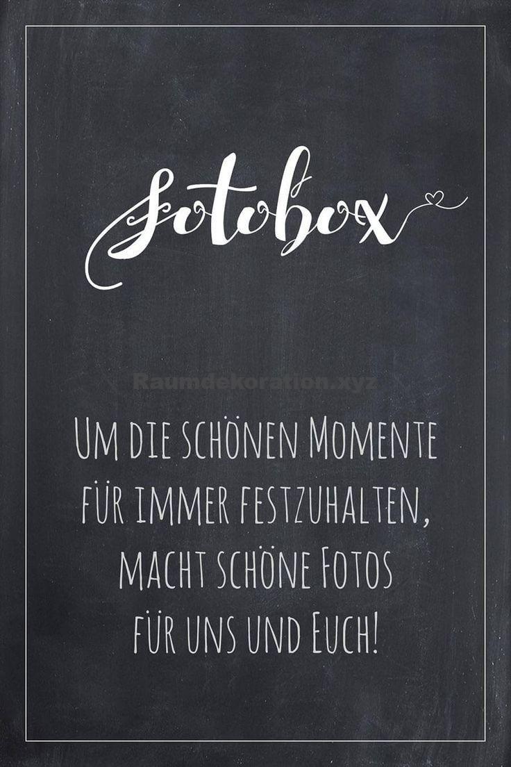 Tischdeko Hochzeit – Fotobox Schild für die Hochzeit im Tafel-Look. Finde bei uns viele weitere Vorl