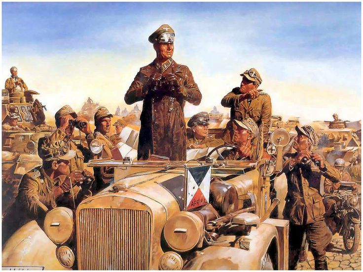 "German General Erwin Rommel ""Desert Fox"""