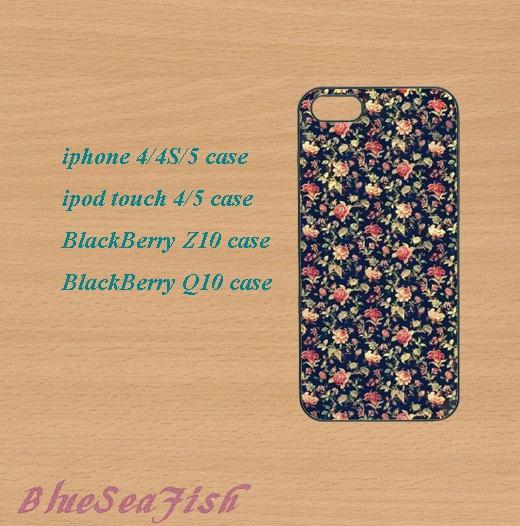 iphone 4 case,iphone 5 case,ipod touch 4 case,ipod touch 5 case,Blackberry z10,Blackberry q10,floral,in plastic by BlueSeaFish, $14.99
