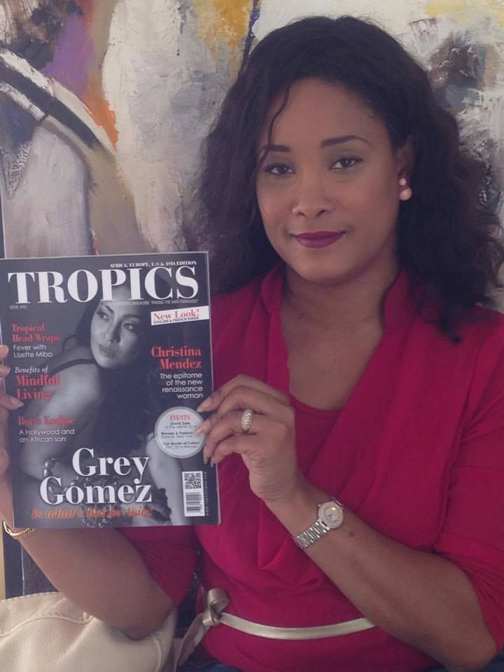 #Selfie • Karine Linord (Martinique, ANTILLES) is a proud reader of #TropicsMagazine.
