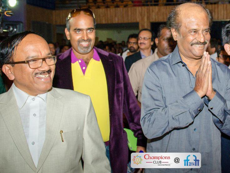 With Goa CM Lakshmikanth Parsekar ji and Super Star Rajnikanth