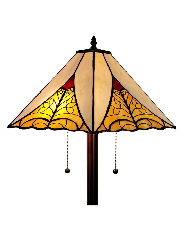 Amora Lighting Tiffany Style Mission Floor Lamp Reviews Home