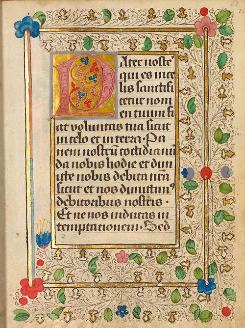 Medieval manuscripts calligraphy initials