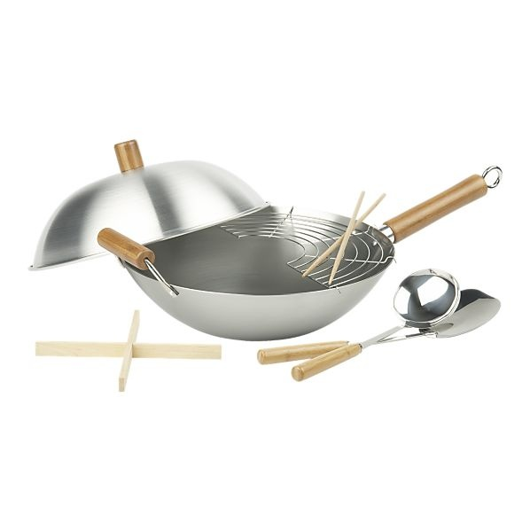 Wok Set by Crate and Barrel: $49.95 #Wok #Crate_and_Barrel