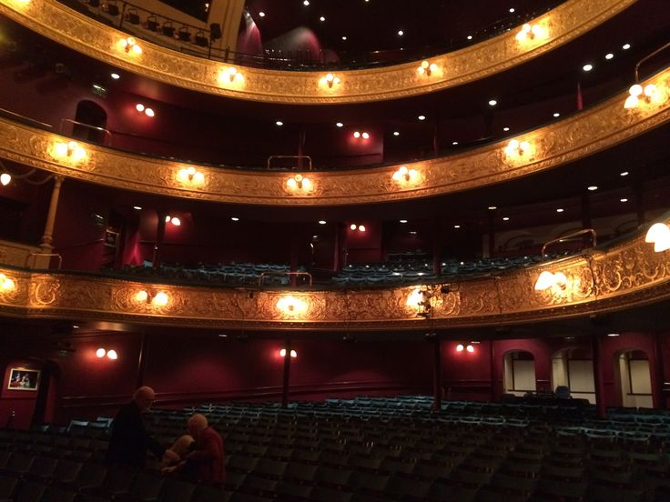 Inside the Theatre Royal, Glasgow, Scotland. Where we saw Mousetrap, from Agatha Christie