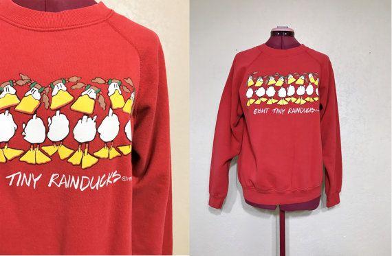 John Baron Eight Tiny RAINDUCKS holiday sweater. 80's by june22nd