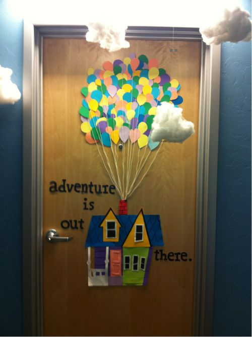door decoration...plus the clouds! i want my students to think like adventurers