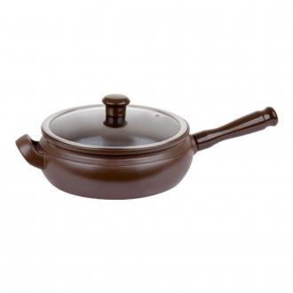 Сковорода-гриль со стеклянной крышкой Ceraflame Terrine 22см, 2л, шоколад