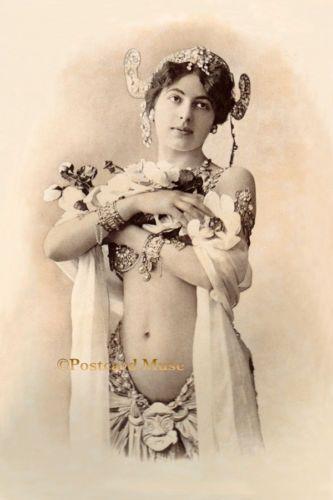 BEAUTIFUL-SPY-MATA-HARI-Vintage-Postcard-Image-Photo-Or-Blank-Card-MH001