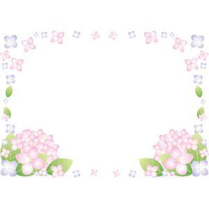 フリーイラスト ベクター画像 Eps 背景 フレーム 囲みフレーム 花