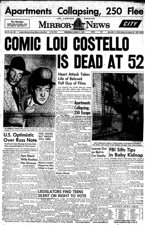 Lou+Costello's+Last+Words | Lou Costello