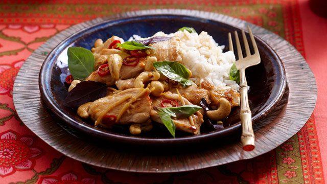 Basil and cashew chicken stir-fry recipe - 9kitchen