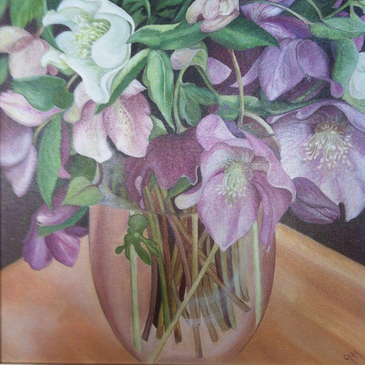 Hellebore. Oil on canvas. 50x50cm
