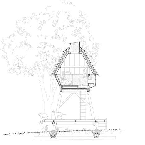 Nozomi Nakabayashi creates writer's hut on stilts in the Dorset woods