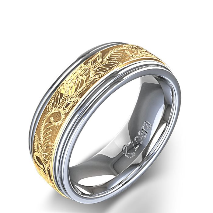 Wedding Bands For Men White Gold Google Search