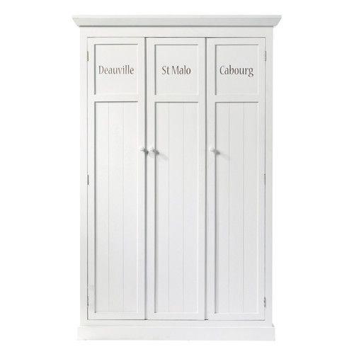 Wooden wardrobe in white W 125cm  For the larder?  £600