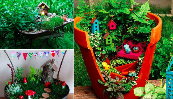 Vous avez un jardin, une cour, ou même un petit balcon et envie d'un peu de verdure et de poésie ? Créez un microjardin féérique ! Vous pourrez mettre en scène vos plantes et accessoires naturels pour créer des petits mondes à part.Plantes, herbes, fleurs, pots de fleurs, statuette en pierre, maisonnette en bois… Amusez-vous …