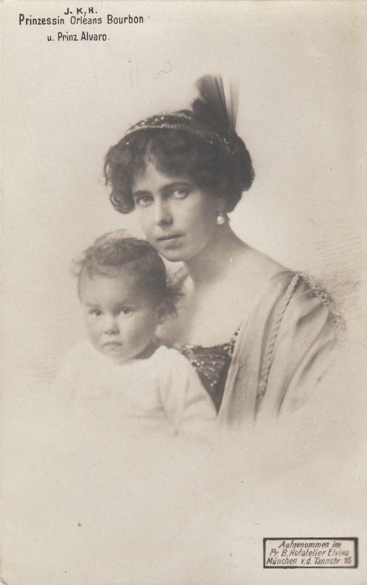 Prinzessin Beatrice v Bourbon Orleans Prz v Sachsen Coburg Gotha m Sohn 1911