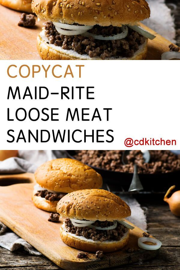 Maid-Rite is an iconic restaurant name in the midwest. Their loose meat sandwich is a favorite (that you can make at home with this highly rated recipe!)| CDKitchen.com