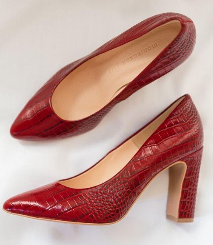Seksowne Czerwone Buty Heels Shoes Pumps