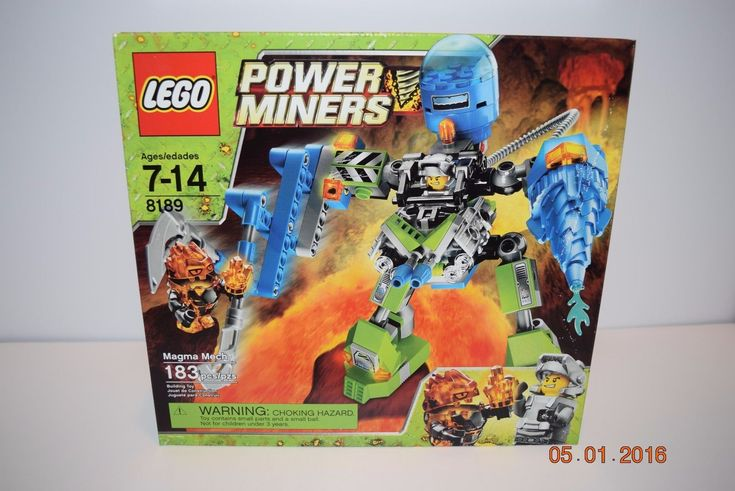 Lego Power Miners 8189 Magma Mech~7+, 8188,8960,8962 **Retired** NEW