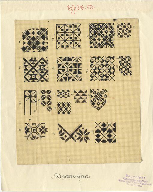 Some more hand drawn beauties - Estonian mitten patterns