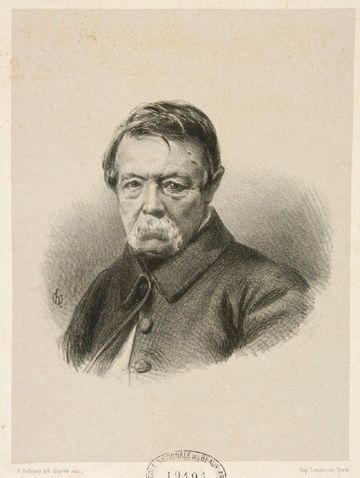 David d'Angers by Henri-Charles Oulevay (1847)