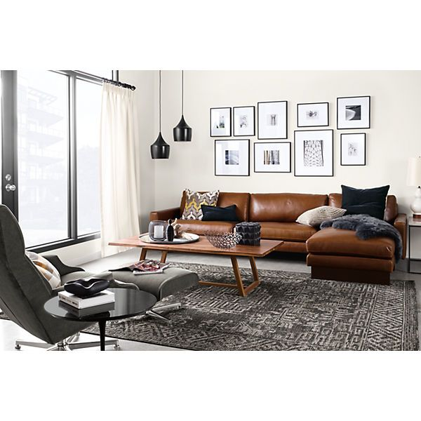 Hess Leather Sectionals