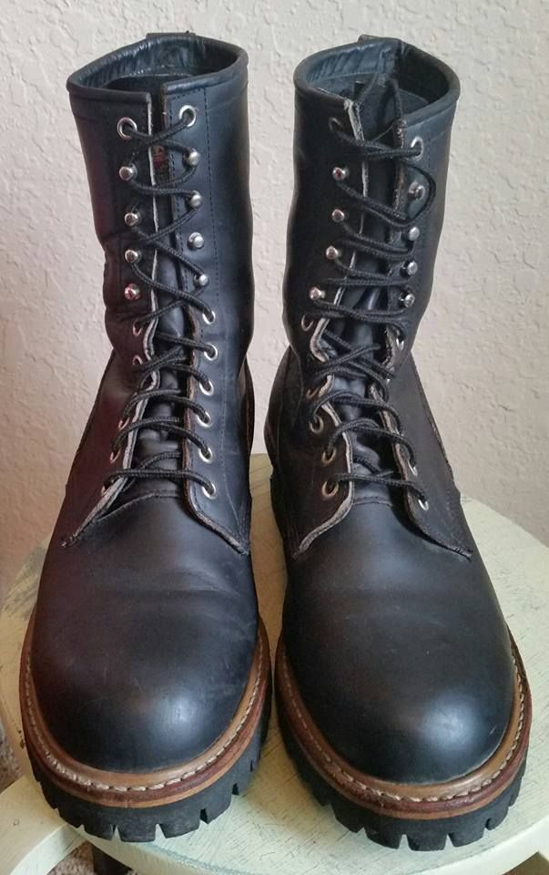 Size 10 Redwing boots 699 wildland fire fighting logger boots black leather Made | Clothing, Shoes & Accessories, Men's Shoes, Boots | eBay!
