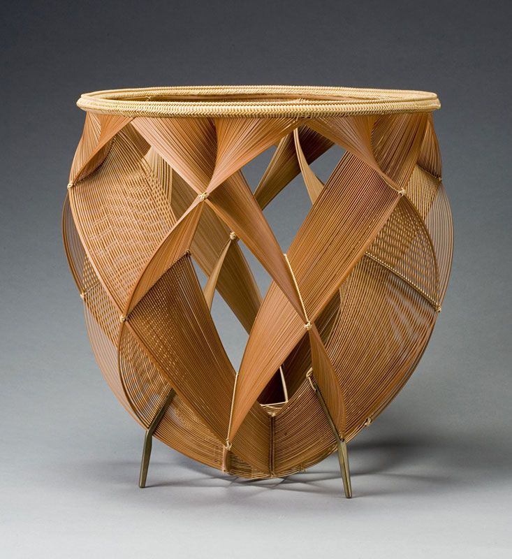 "Shono Shonsai basket from Exhibition ""Masters of Bamboo: Japanese baskets and sculpture in the Cotsen Collection"""