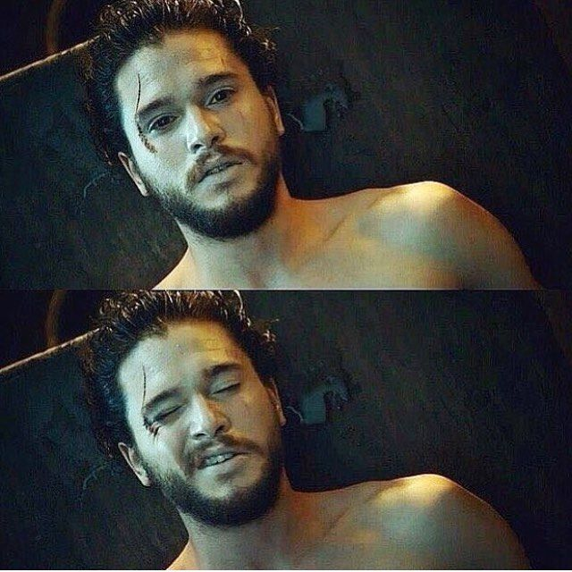 Repost from @kitharingtone - Jon Snow knows nothing. Not even how to wink
