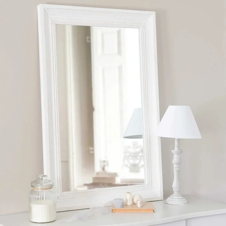 Specchio in abete écru 60x90 Honoré Maisons du Monde