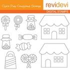 This digistamp set featuring candy shoppe with sweets.  These digital stamp cliparts are very useful for teachers and educators for creating their ...