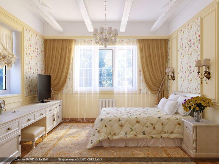 Дизайн спальни в стиле кантри