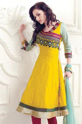 Embroidered Anarkali Frocks | Anarkali style | Anarkali Collection 2012 | Fashion Style4Girls