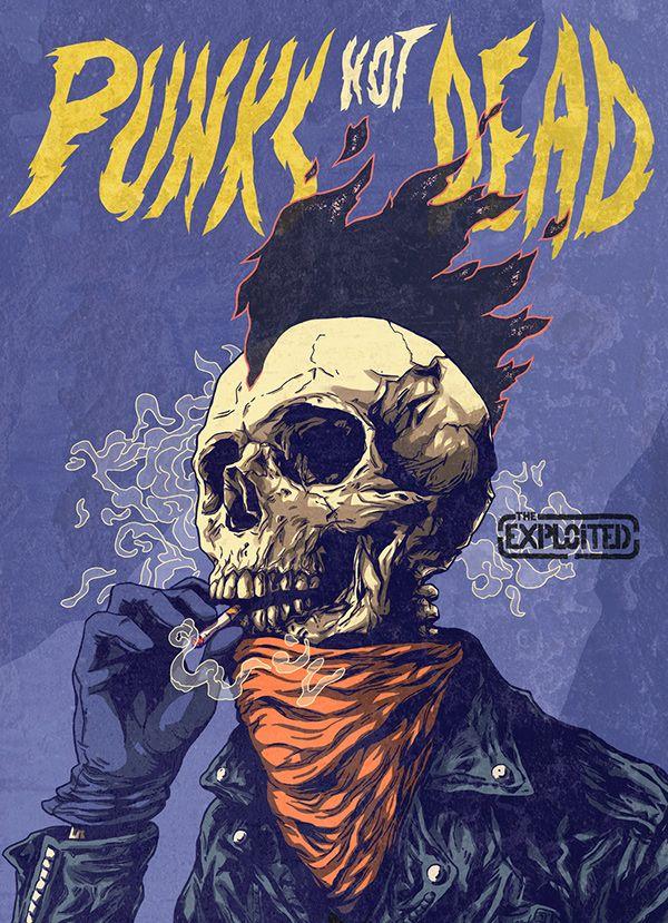 Punks Not Dead On Behance Punk Art Punk Poster Art