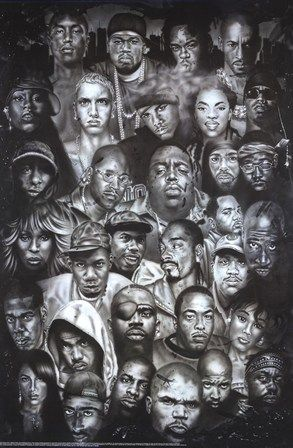 all hip-hop legends...need this on my wall