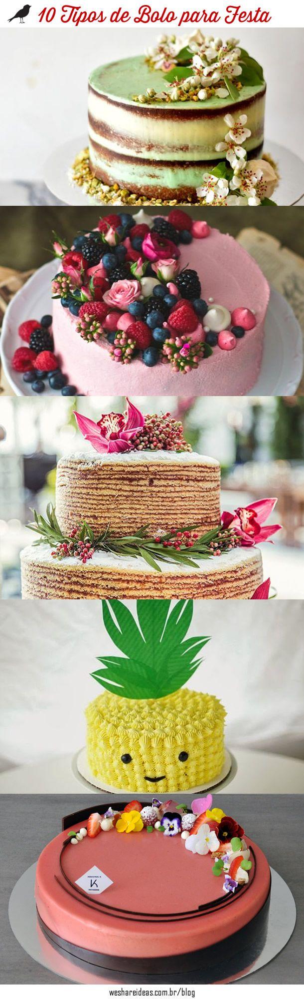 10 tipos de bolos para festa.