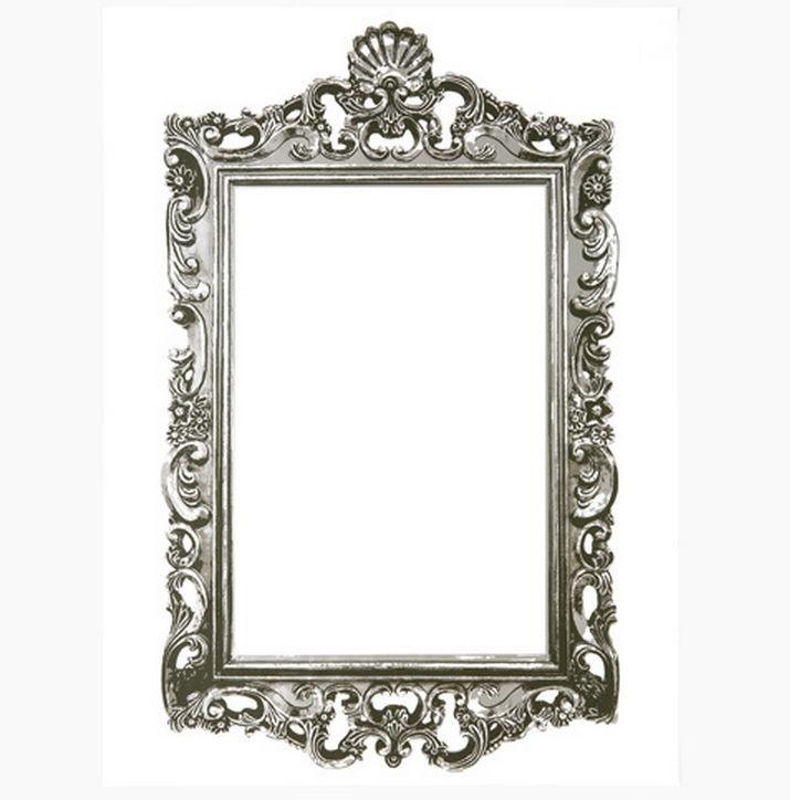 Decolfa Mirror Sticker (Square Silver) For DIY Decorate Home Interior Design Art